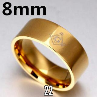 ♣フリーメイソン リング⭐チェーンネックレス付き(リング(指輪))