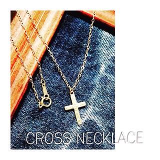 K14gf クロス ネックレス(ネックレス)