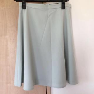 デミルクスビームス(Demi-Luxe BEAMS)のデミルクス ミントグリーンフレアスカート(ひざ丈スカート)