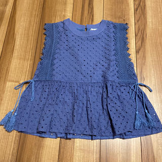 袖レース編み切り替えカットソー(カットソー(半袖/袖なし))
