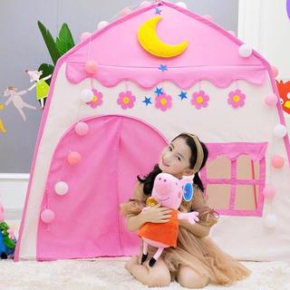 知育  子供用テント 子ども テントキッズテント ピンク 女の子 ライト付き公園(知育玩具)