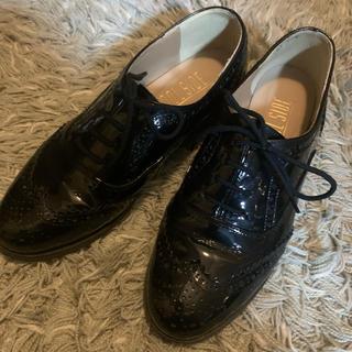 プールサイド(POOL SIDE)のpoolside 本革 エナメル 22.5男女兼用(ローファー/革靴)