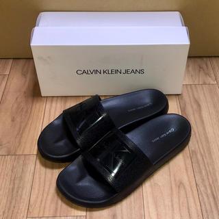 カルバンクライン(Calvin Klein)の新品 カルバンクライン サンダル ビーサン 黒 US8 25cm CK ブラック(サンダル)