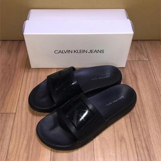 カルバンクライン(Calvin Klein)の新品 カルバンクライン サンダル ビーサン 黒 US7 24cm CK ブラック(サンダル)