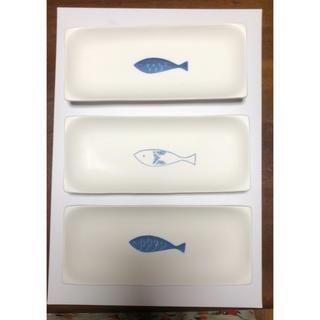 長皿 お魚 ホワイト 新品 TABLE STORY 3枚セット(食器)