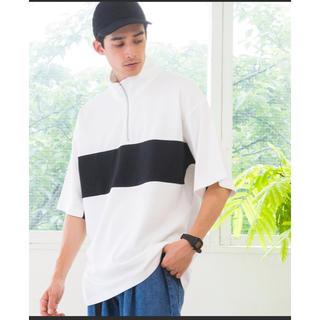 ウィゴー(WEGO)のWEGO ハーフジップ ライン切替Tシャツ(Tシャツ/カットソー(半袖/袖なし))