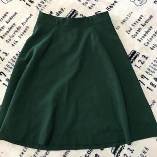 サリア(salire)のサリア 着用回数0  深緑スカート(ひざ丈スカート)