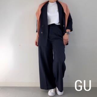 ジーユー(GU)のジーユー GU ジャケット パンツ セットアップ スーツ ネイビー Lサイズ(スーツ)