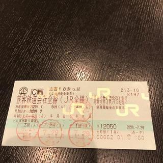 青春18きっぷ 残り1回(鉄道乗車券)