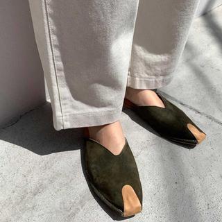 ロンハーマン(Ron Herman)のまる様専用 CANAL JEAN スエードバブーシュ(ローファー/革靴)