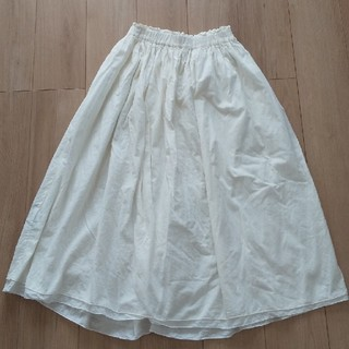 アンティローザ(Auntie Rosa)のオフホワイト リバーシブルロングスカート(ロングスカート)