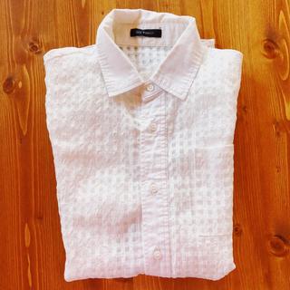 ミッドウエスト(MIDWEST)のMIDWEST ホワイトチェックシャツ(シャツ/ブラウス(半袖/袖なし))