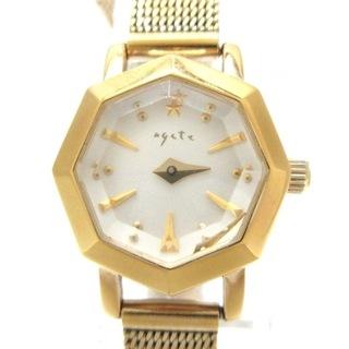 アガット(agete)のアガット 腕時計 レディース シェル文字盤(腕時計)