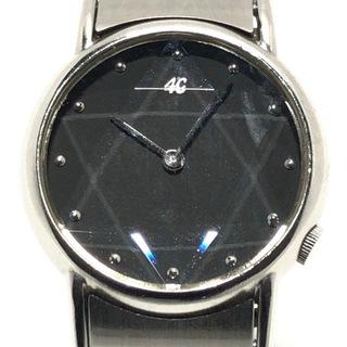 ヨンドシー(4℃)の4℃(ヨンドシー) 腕時計 レディース 黒(腕時計)