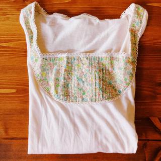 フランシュリッペ(franche lippee)のフランシュリッペ花柄襟のロングTシャツ(Tシャツ(長袖/七分))
