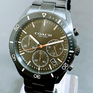 コーチ(COACH)の◆激レア◆ブラック◆コーチ◆トンプソン◆メンズ◆クロノグラフ◆腕時計◆(腕時計(アナログ))