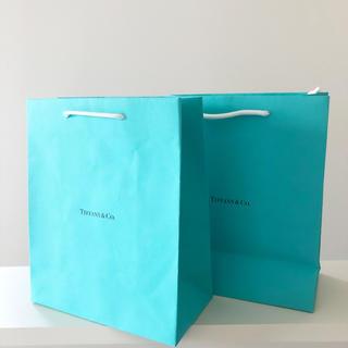 ティファニー(Tiffany & Co.)のTiffany  紙袋 ショップ袋 ショッパー  2枚 ティファニー  ブルー(ショップ袋)