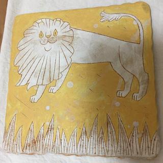ミナペルホネン(mina perhonen)の鹿児島 睦さん 食器 皿  陶板 Makoto Kagoshima ライオン(食器)