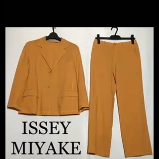 ISSEY MIYAKE - イッセイミヤケ 黄 橙 スーツ 毛 薄手
