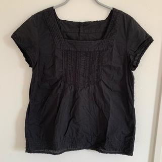 チャイルドウーマン(CHILD WOMAN)の半袖ブラウス 黒 CHILD WOMAN(シャツ/ブラウス(半袖/袖なし))