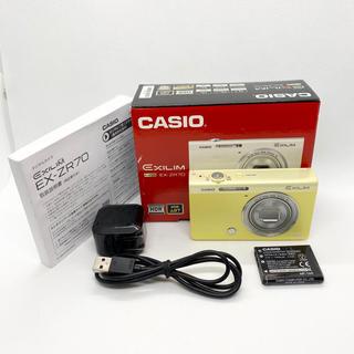 カシオ(CASIO)のCASIO exlim EX-ZR70 イエロー(コンパクトデジタルカメラ)