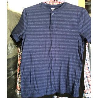 オールドネイビー(Old Navy)の未使用★OLD NAVY ヘンリーネックTシャツ XS(Tシャツ/カットソー(半袖/袖なし))