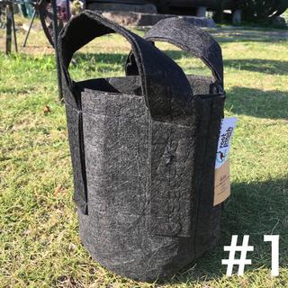 ルーツポーチ☆アメリカのトート型エコ植木鉢プランター1ガロン生分解性ブラック(プランター)