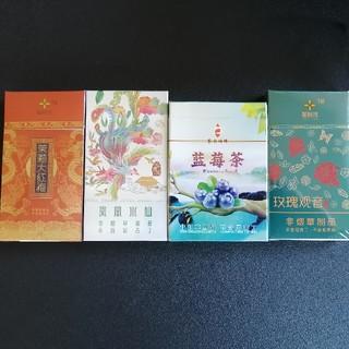 中国茶タバコ 人気4品のセット(茶)