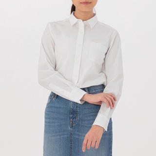 ムジルシリョウヒン(MUJI (無印良品))の無印良品 オーガニックコットン洗いざらしブロードシャツ 婦人M(シャツ/ブラウス(長袖/七分))