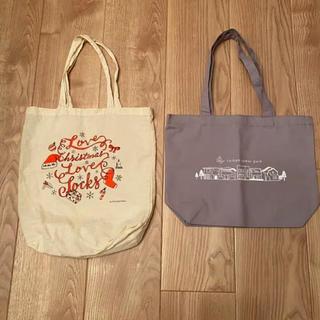 クツシタヤ(靴下屋)の非売品ノベルティ トートバッグ 2点セット 【送料込】(エコバッグ)