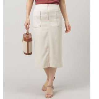 ドゥアルシーヴ(Doux archives)のオフホワイト 膝丈スカート オールシーズン(ひざ丈スカート)