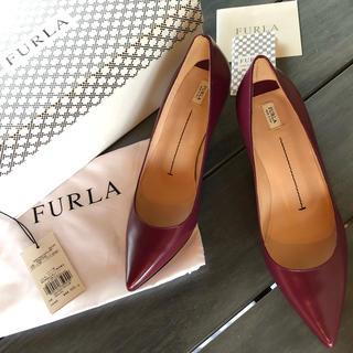 フルラ(Furla)のFURLA 定価¥48400 パンプス OPERA  ボルドーカラー 37(ハイヒール/パンプス)