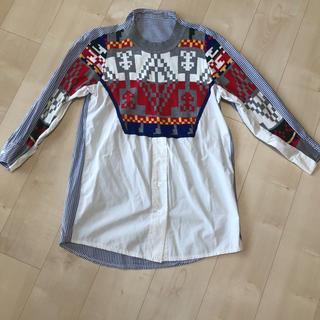 サカイ(sacai)のシャツ ニット ドッキングワンピース(ミニワンピース)