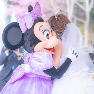 ディズニー(Disney)のFTW 限定 ミッキー ロングヴェール ロンググローブ(ウェディングドレス)