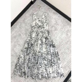 ディオール(Dior)のDior コットンプリント ロングワンピース Drawer(ロングワンピース/マキシワンピース)