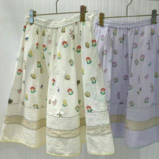 フランシュリッペ(franche lippee)の【美品】franche lippee ハイチーズ柄スカート(ひざ丈スカート)