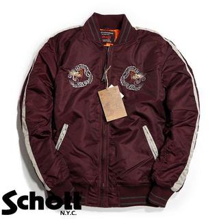 ショット(schott)のSchott NYC ショット ★L 刺繍 スカジャン スーベニアジャケット(フライトジャケット)
