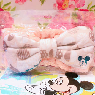 ディズニー(Disney)のディズニー ヘアバンド ミッキー ピンクリボン(ヘアバンド)