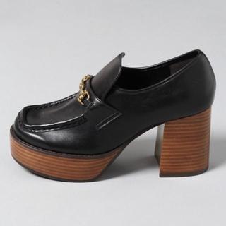 ジーナシス(JEANASIS)のビットツキヒールローファー(ローファー/革靴)