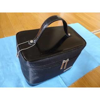 トレンチケースメイクボックス化粧品トレンチボックス黒ブラックミラー付き(メイクボックス)