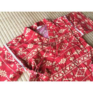 エフオーキッズ(F.O.KIDS)の甚平 130cm 赤 F.O.インターナショナル(甚平/浴衣)