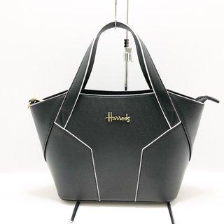 ハロッズ(Harrods)のハロッズ ハンドバッグ美品  黒×白 合皮(ハンドバッグ)