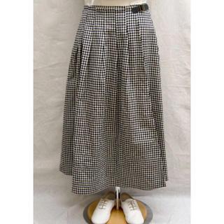 ルミノア(Le Minor)の新品 Le minor ルミノア 綿麻キャンバスチェック 巻きスカート(ロングスカート)