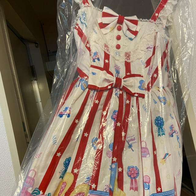 Angelic Pretty(アンジェリックプリティー)のangelic pretty toy doll box ジャンス アイボリ レディースのワンピース(ひざ丈ワンピース)の商品写真