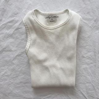 キャラメルベビー&チャイルド(Caramel baby&child )のlovely little 白タンクトップ3y(タンクトップ/キャミソール)