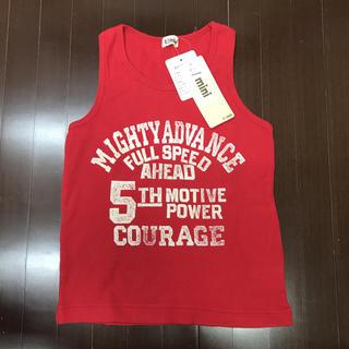 ターカーミニ(t/mini)の新品 ターカーミニ    綿タンクトップ ワッフル赤地 130cm(Tシャツ/カットソー)