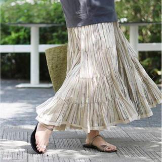 イエナ(IENA)の最終お値下げ☆ イエナ  MARIHA/マリハ 草原の虹のスカート 36(ロングスカート)