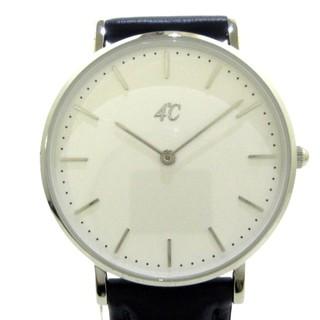 ヨンドシー(4℃)の4℃(ヨンドシー) 腕時計美品  - 202518 白(腕時計)