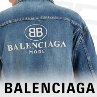 バレンシアガ(Balenciaga)の18SS バレンシアガ BBMODE バックロゴデニムジャケット Gジャン 44(Gジャン/デニムジャケット)