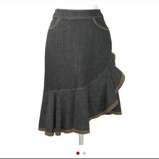 エムズグレイシー(M'S GRACY)のデニムスカート (ひざ丈スカート)